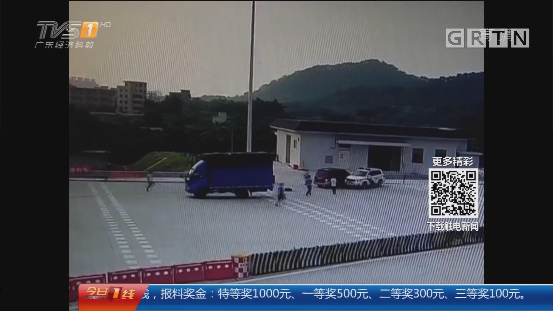 广州:亡命逃窜撞警车 偷油贼落网