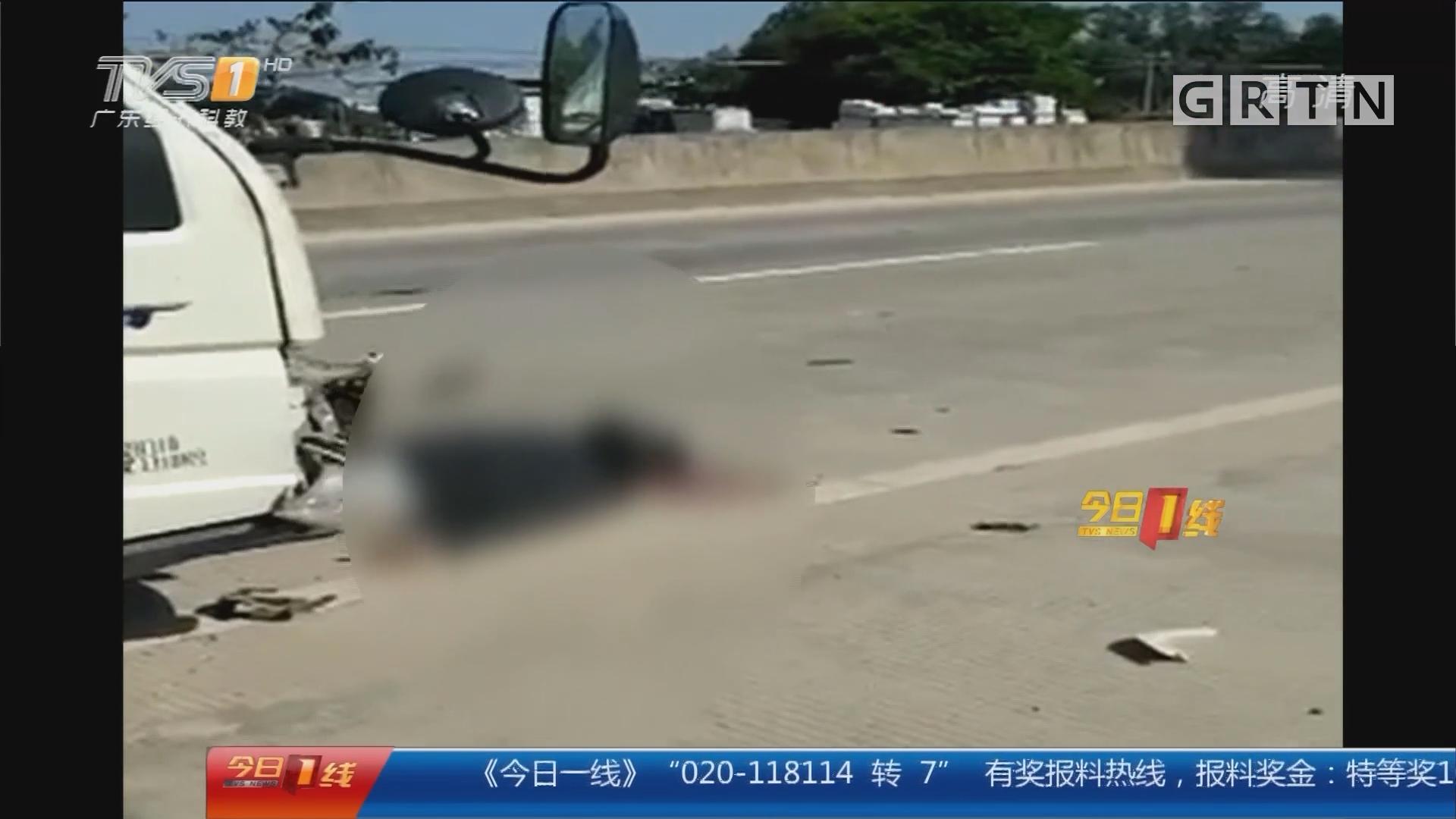 茂名:摩托车小货车相撞 4死1伤