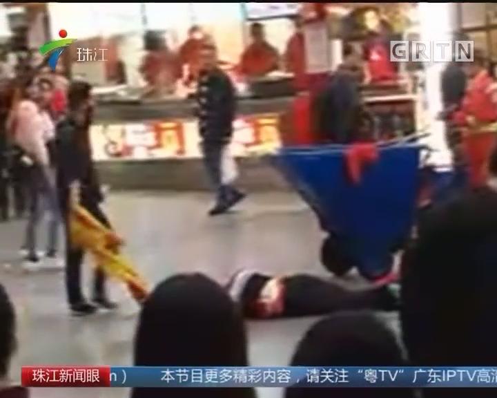 """惠州:""""孙悟空""""街头被打 警方介入调查"""