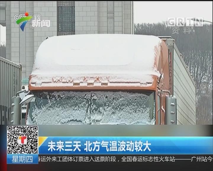 未来三天 北方气温波动较大