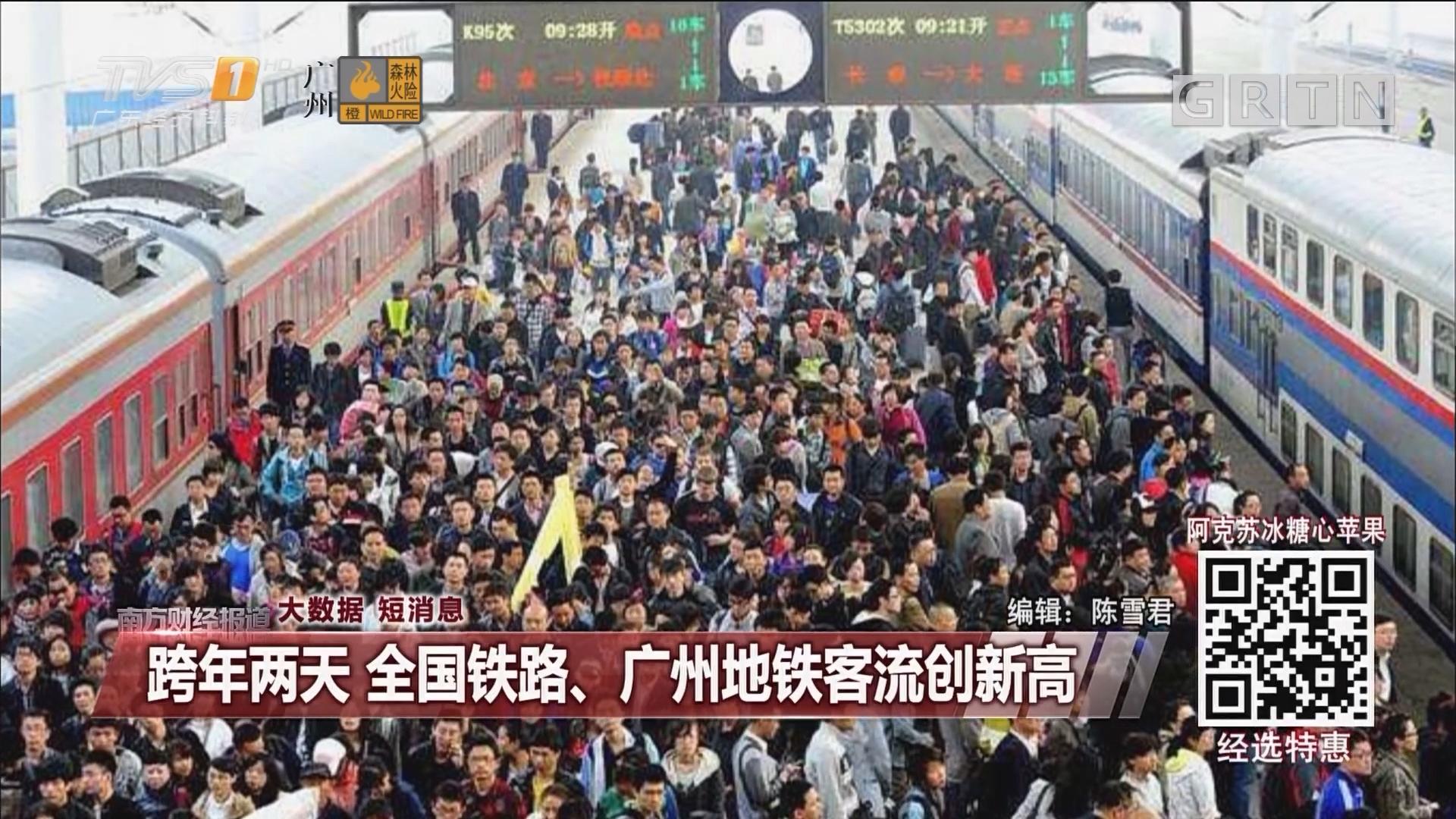跨年两天 全国铁路、广州地铁客流创新高