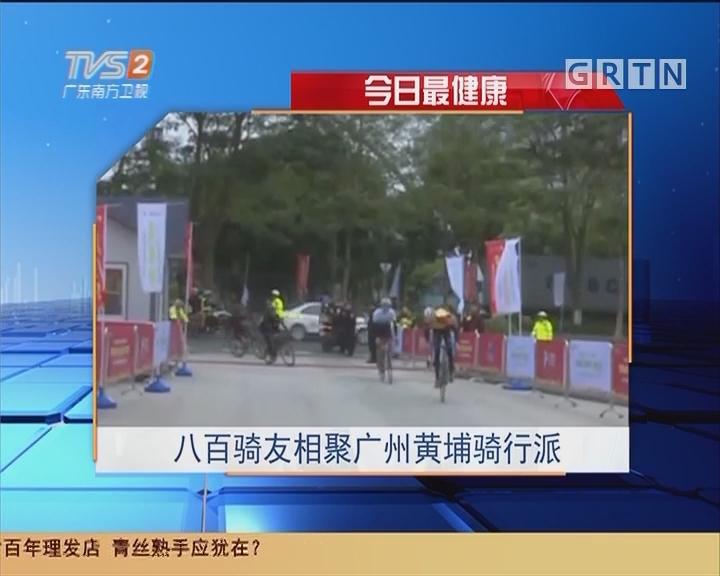 今日最健康:八百骑友相聚广州黄埔骑行派
