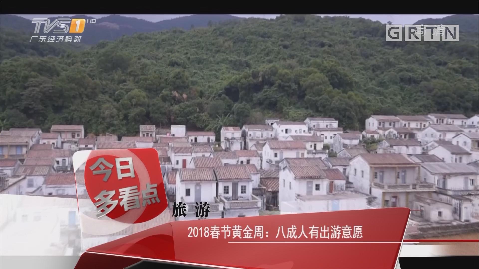 旅游 2018春节黄金周:八成人有出游意愿
