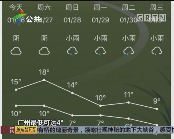 冷空气组团来到 下周广州最低4℃