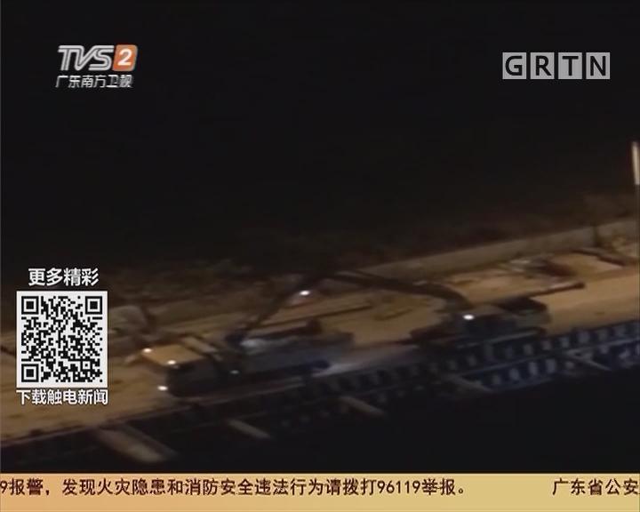 广州天河:市政施工深夜噪音扰民 老友一夜无眠