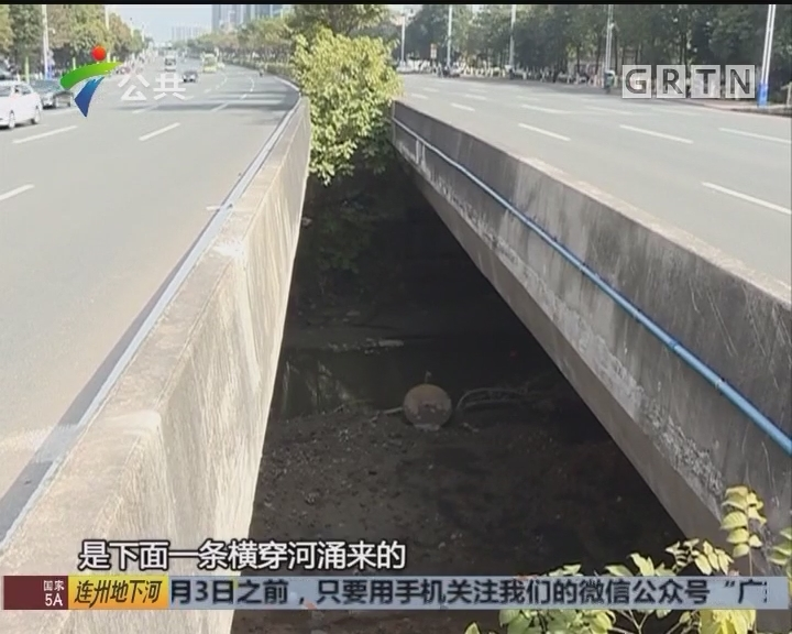 番禺:男子酒后横穿马路 失足掉下5米河涌