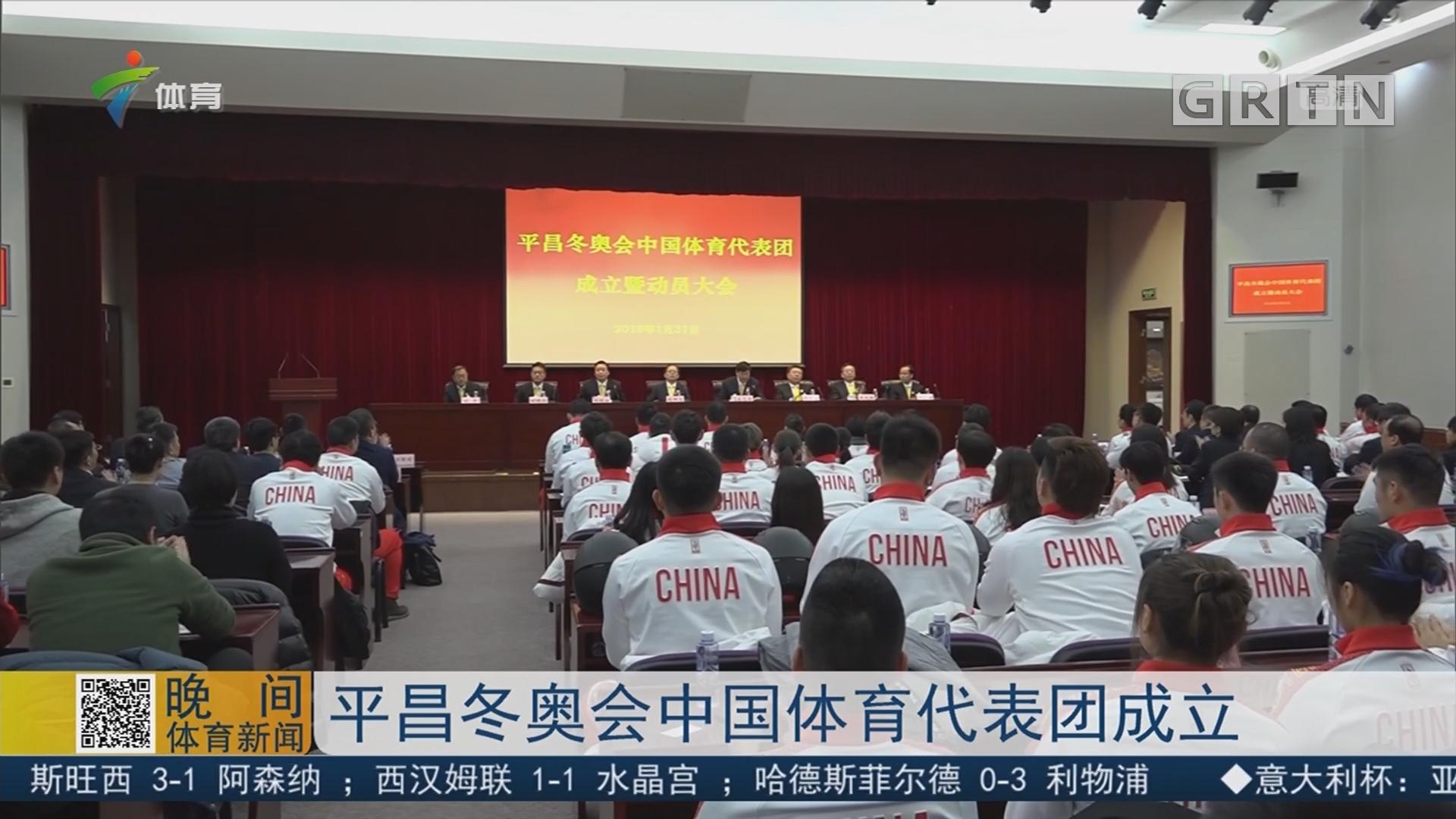 平昌冬奥会中国体育代表团成立