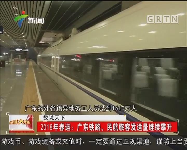 2018年春运:广东铁路、民航旅客发送量继续攀升
