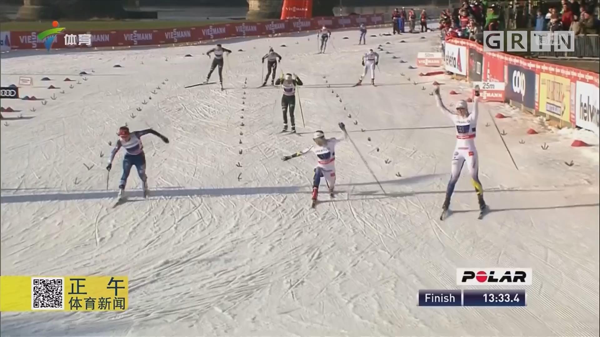 越野滑雪世界杯 意大利夺男子团体冠军