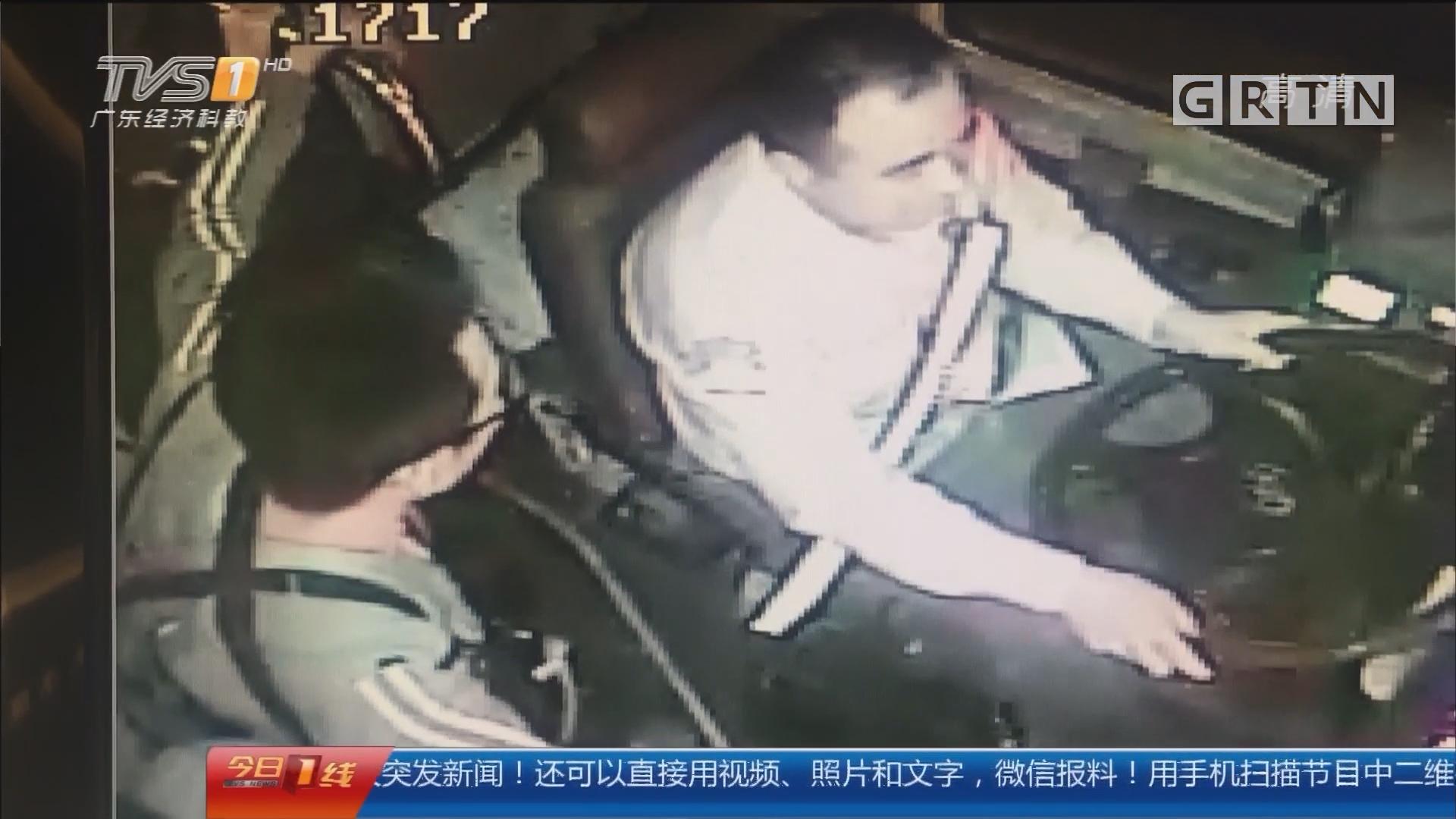 广州:醉汉公车上胡闹 扬言要烧车被抓