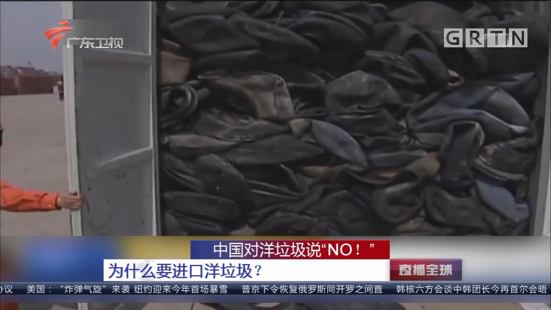 """中国对洋垃圾说""""NO!"""" 为什么要进口洋垃圾?"""