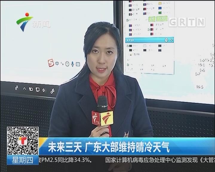 未来三天 广东大部维持晴冷天气