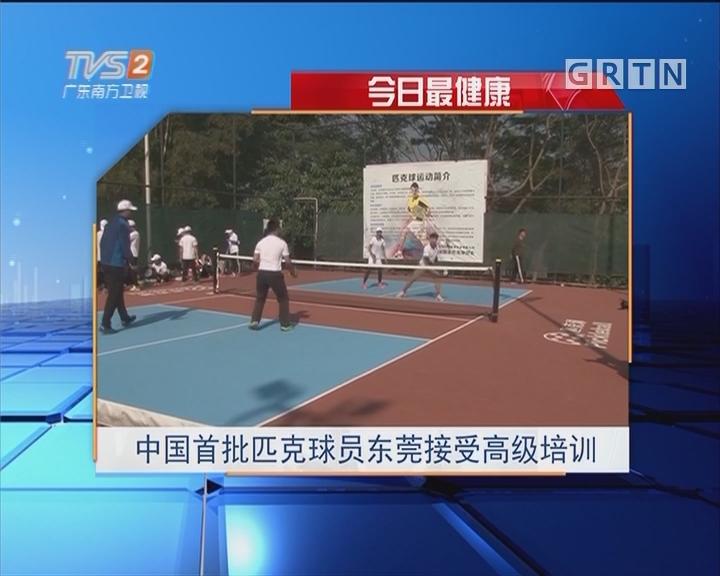 今日最健康:中国首批匹克球员东莞接受高级培训