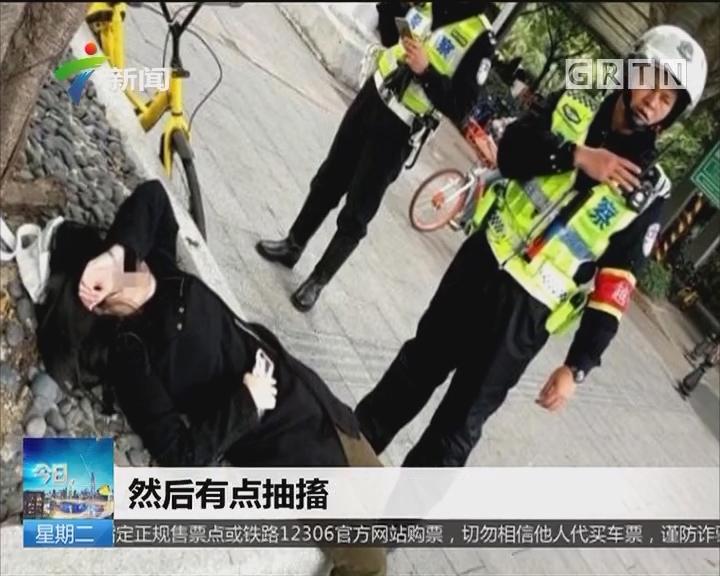 广州:没吃早餐 女孩饿晕在路边