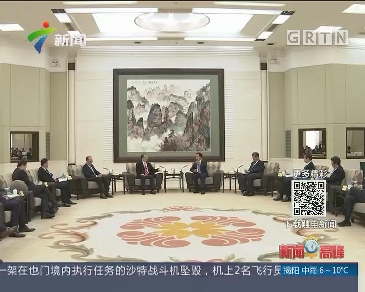 李希马兴瑞会见香港六大商会联合访问团