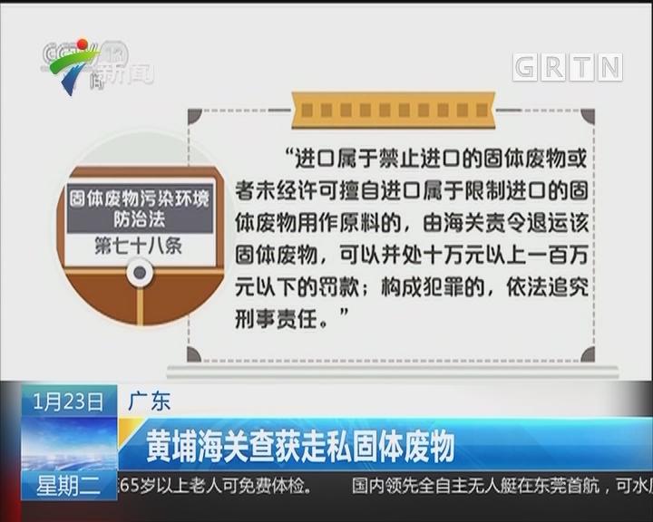 广东:黄埔海关查获走私固体废物