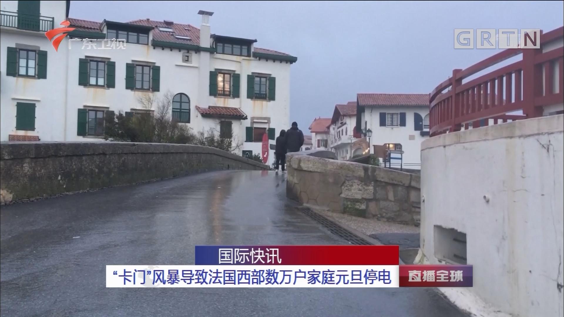"""""""卡门""""风暴导致法国西部数万户家庭元旦停电"""