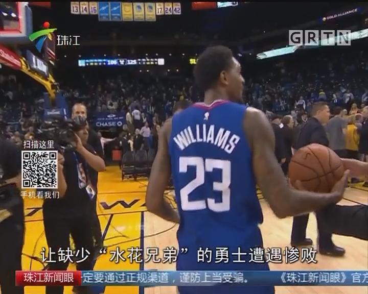 NBA:杜兰特得分超2万 勇士大败