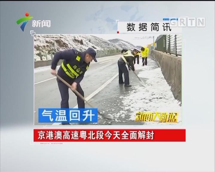 气温回升:京港澳高速粤北段今天全面解封