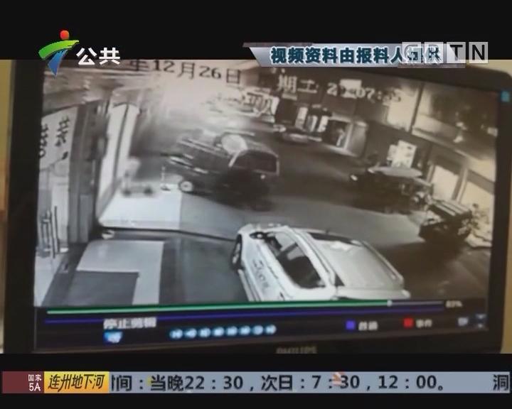 惠州:三轮车突然启动 撞倒四岁小女孩