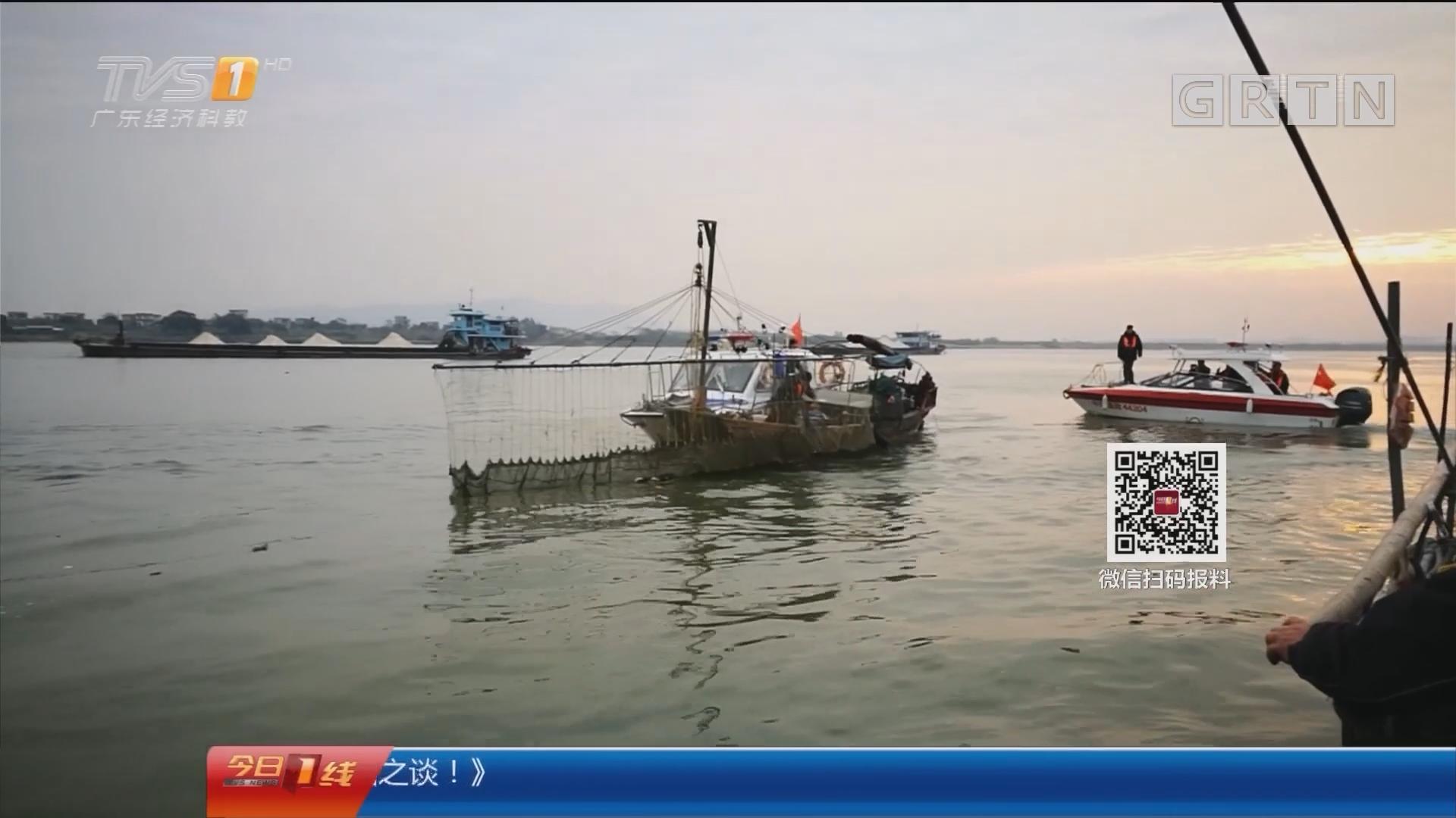 佛山:非法电鱼还拒捕 执法船包抄拦截