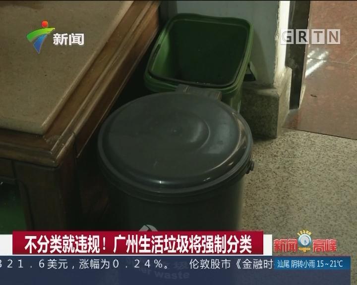 不分类就违规! 广州生活垃圾将强制分类