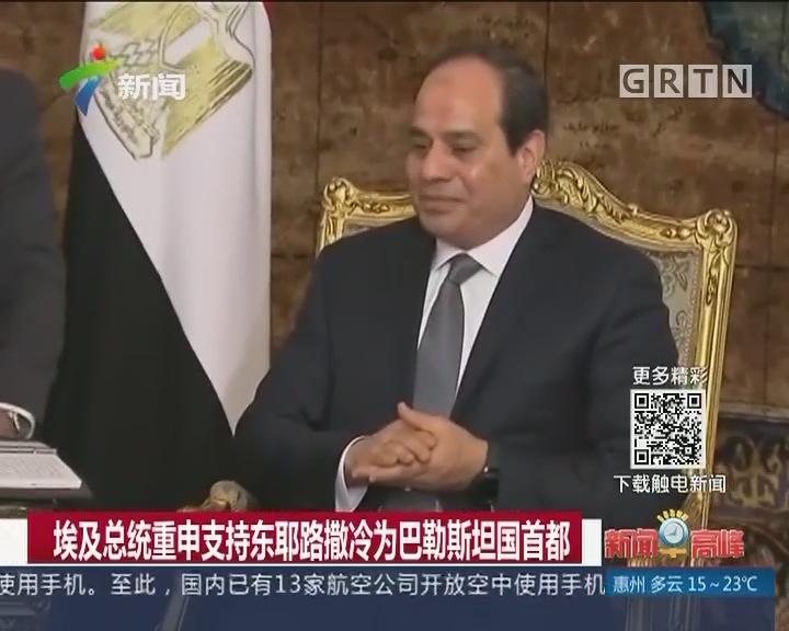 埃及总统重申支持东耶路撒冷为巴勒斯坦国首都