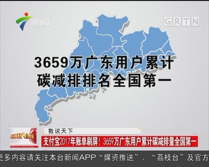 支付宝2017年账单刷屏!3659万广东用户累计碳减排量全国第一