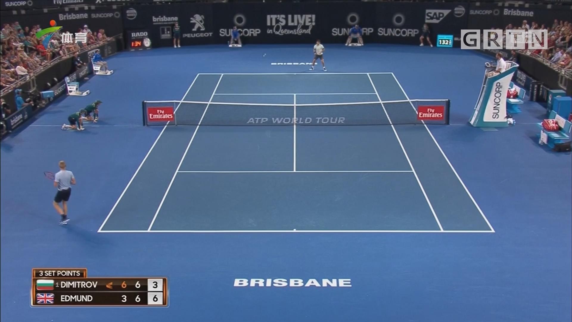 ATP布里斯班赛 迪米特洛夫、克耶高斯晋级四强