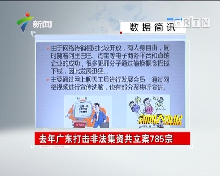 去年广东打击非法集资共立案785宗