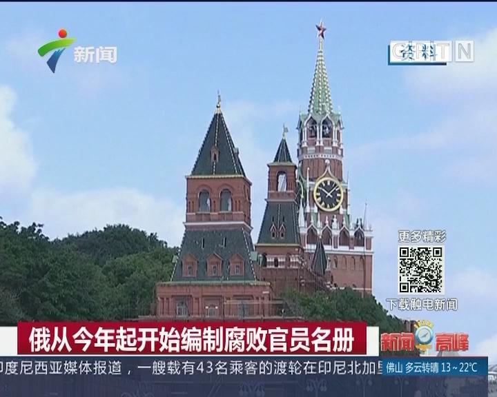俄从今年起开始编制腐败官员名册