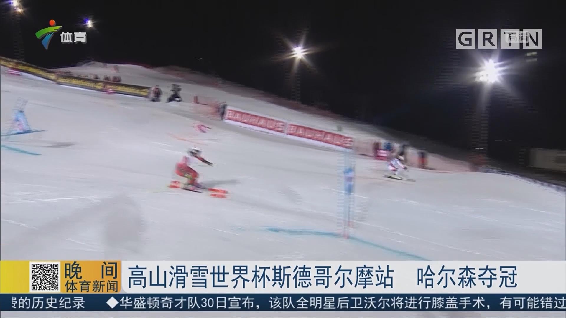 高山滑雪世界杯斯德哥尔摩站 哈尔森夺冠