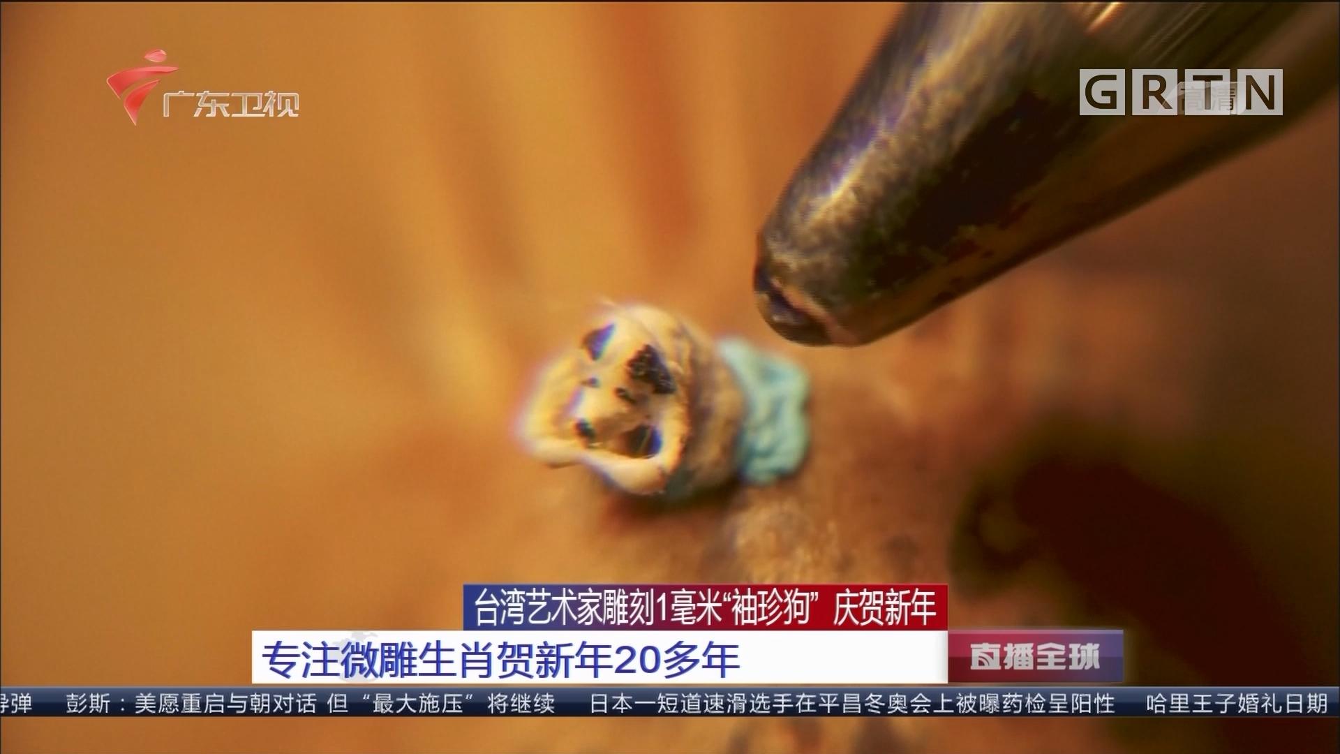 """台湾艺术家雕刻1毫米""""袖珍狗"""" 庆贺新年:专注微雕生肖贺新年20多年"""