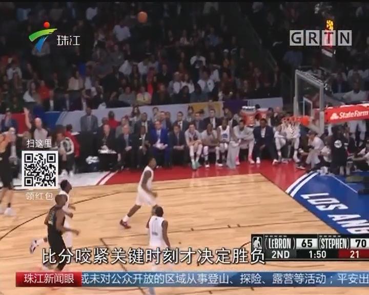 NBA全明星 詹姆斯队胜库里队