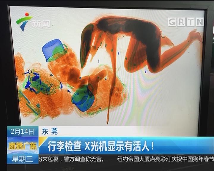 东莞:行李检查 X光机显示有活人!