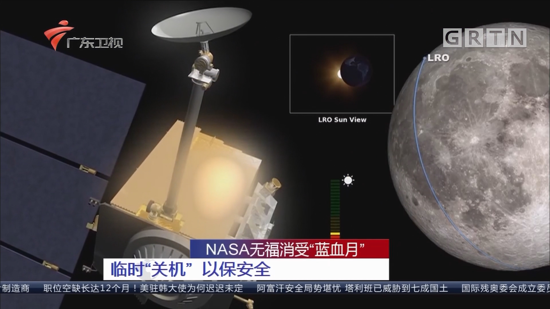 "NASA无福消受""蓝血月"":临时""关机"" 以保安全"