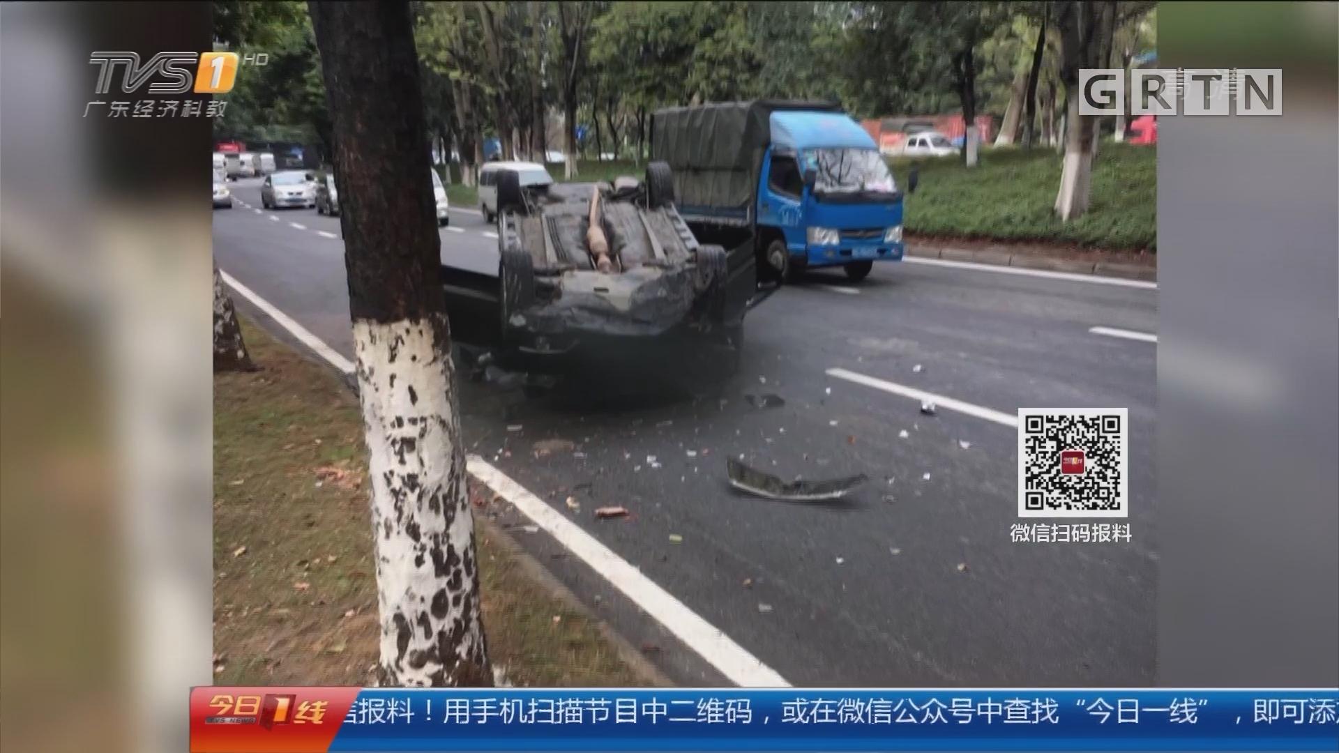 交通安全:东莞 车祸现场他砸玻璃救人 获锦旗致谢