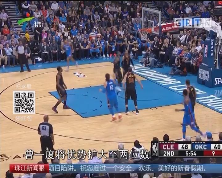 NBA:詹姆斯37分 骑士客场胜雷霆