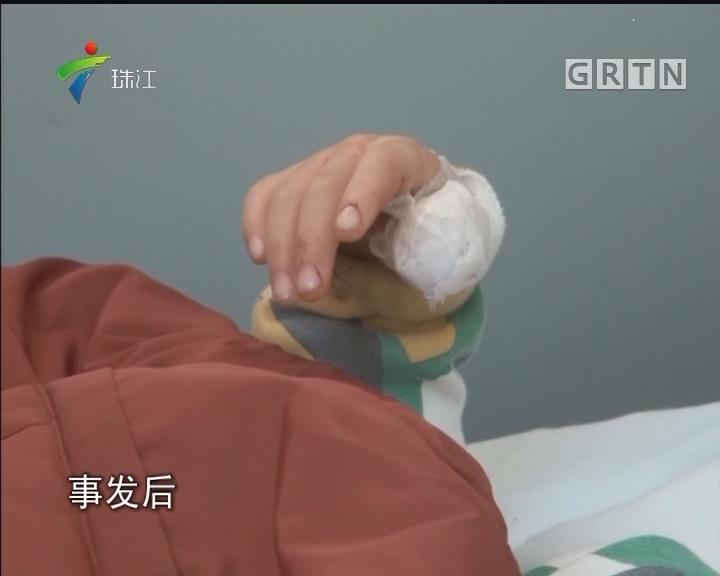 梅州:5龄童玩跷跷板右拇指被碾碎