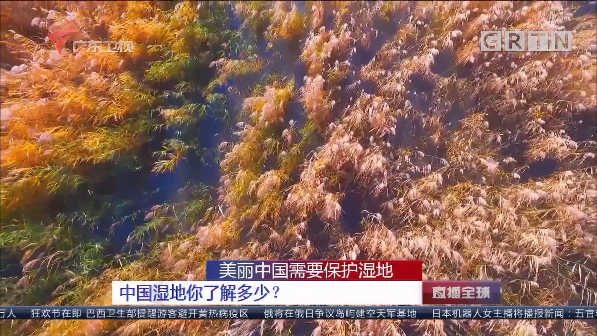 美丽中国需要保护湿地 中国湿地你了解多少?