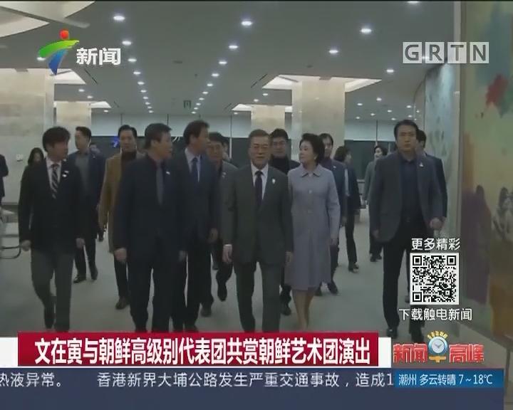 文在寅与朝鲜高级别代表团共赏朝鲜艺术团演出