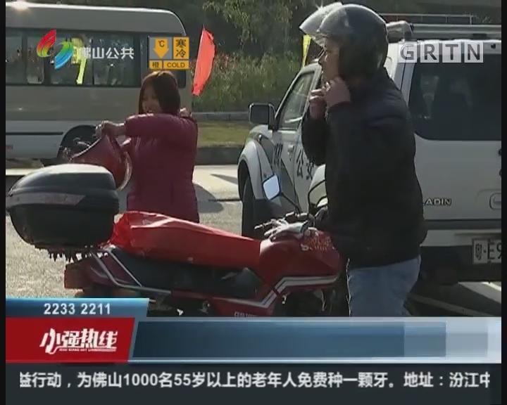 佛山:寒冷难掩回家热情 摩托车大军启程返乡
