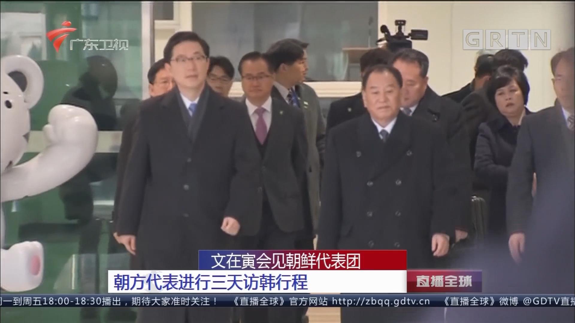 文在寅会见朝鲜代表团:朝方代表进行三天访韩行程