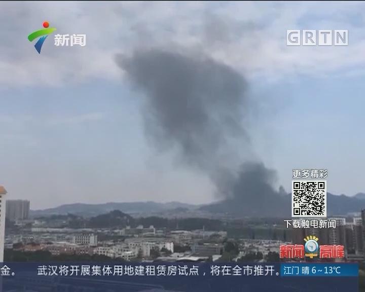 广州:岑村一纤维厂起火