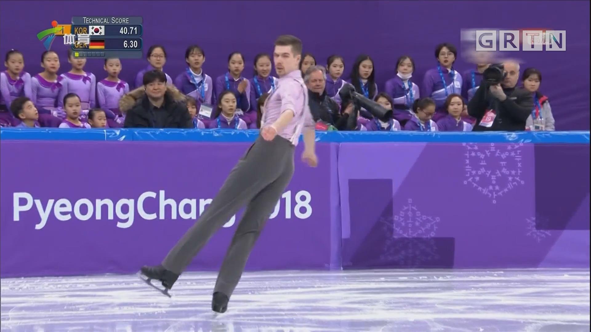 花样滑冰团体赛 中国队暂列第六