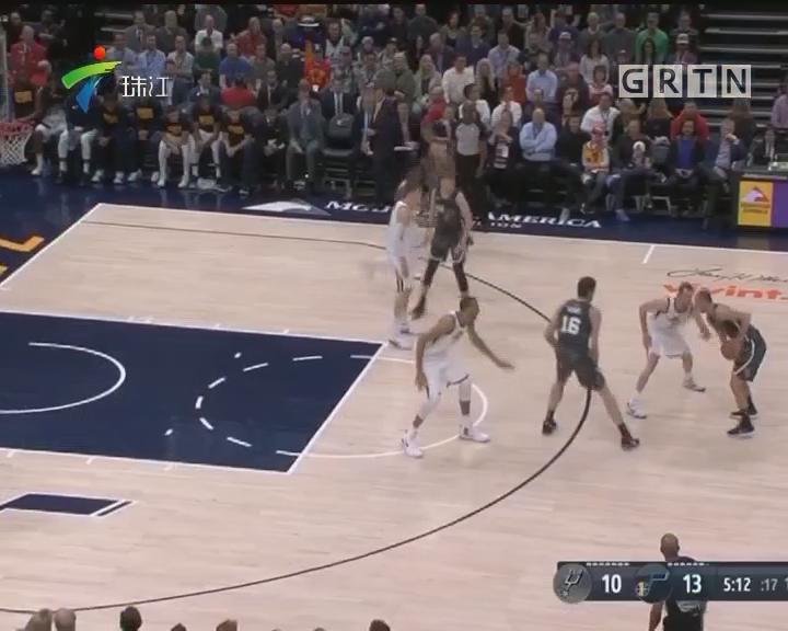 NBA:爵士主场2分险胜马刺