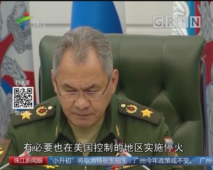 俄国防部长宣布在叙利亚东古塔实施停火