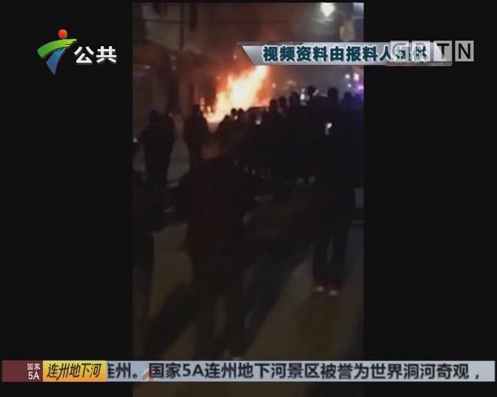 肇庆:商场突然起火 街坊担心与爆竹有关