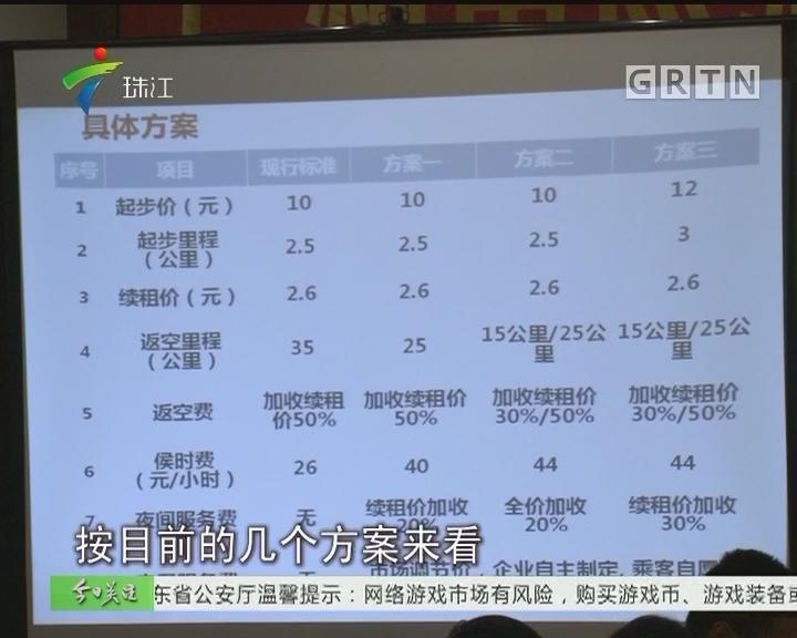 广州的士运价调整听证 八成代表赞成方案三