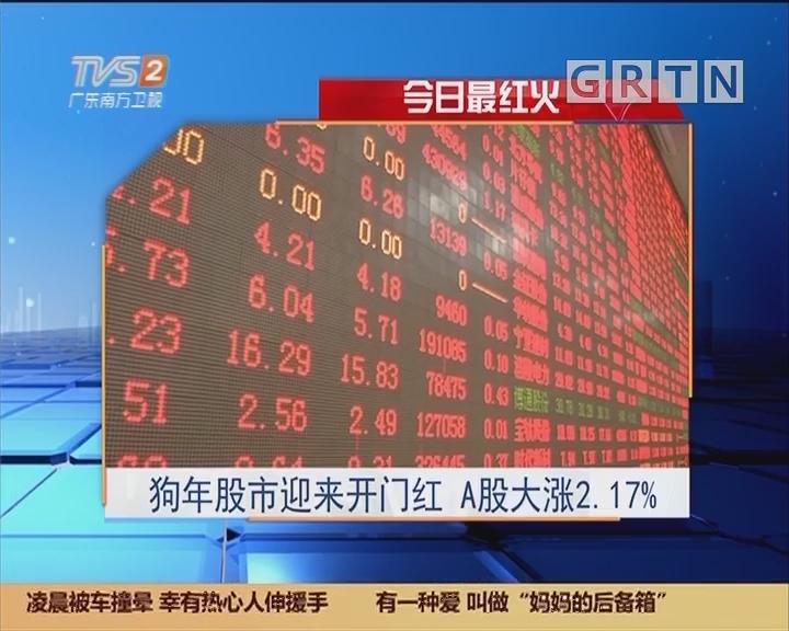 今日最红火:狗年股市迎来开门红 A股大涨2.17%